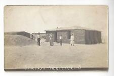 Staley's Ranch, Opal, South Dakota RPPC - Sod House