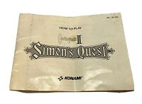 Castlevania II Simon's Quest Nintendo NES Instruction Manual Booklet ONLY