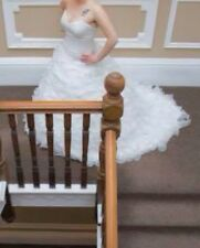 wedding dress,forever yours, ivory, size12,matching veil and hoop underskirt ONO