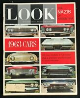 LOOK MAGAZINE - Oct 23 1962 - CARS OF 1963 / Nazis in Argengtina