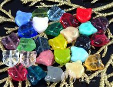 10pcs Mix Multicolor Cat Face Czech Glass Animal Beads 12mm