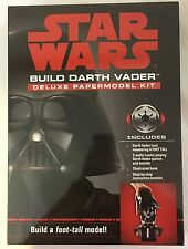 Disney STAR WARS Build DARTH VADER Deluxe Papermodel Kit With Audio New