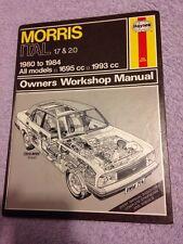 Haynes Morris ITAL 1.7 & 2.0 1980 - 1984 Owners Workshop Manual