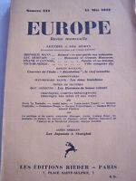 LOT revue EUROPE DE 1933 . 5 NUMEROS EN BON ETAT .