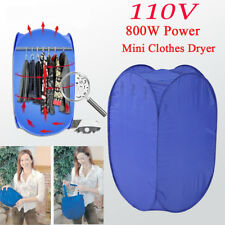 110V Brand New Folding Fast Drying Portable Electric Clothes Dryer Bag Blue US