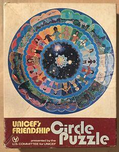 """Unicef Friendship Circle Puzzle -- 200 Piece / 20"""" VINTAGE COMPLETE Decent shape"""