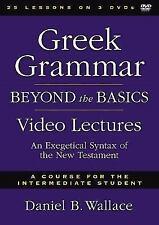 GREEK GRAMMAR BEYOND THE BASICS VIDEO LECTURES - WALLACE, DANIEL B. - NEW BOOK