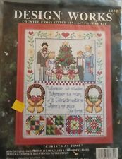 Design Works CHRISTMAS TIME Counted Cross Stitch Kit Family Quote #1030