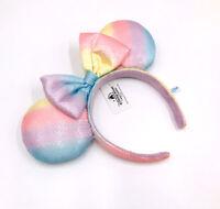 Tokyo Disney Resort Rare Minnie Ears Limited Rainbow Sequins Bow Headband
