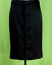 252 NWT GUCCI women designer Black Satin SILK Skirt pencil straight ITALY 40 NEW