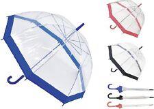 Drizzles Ladies Dome Umbrella Clear Walking Umbrella Fast Postage