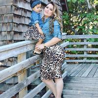 Family Matching Women Baby Girls Kids Outfits Tops T-shirt Skirt Tutu Dress