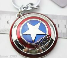 """CAPTAIN AMERICA SHIELD KEY RING HEAVY DUTY 2 1/8"""" WIDE COLLECTIBLE AVENGERS NEW"""