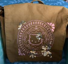 Sanrio Hello Kitty Brown Sequin Cross Body Bag Purse Messenger