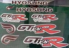 Hyosung GT125R calcomanías/Pegatinas Plata/Rojo/Negro Comet GT R GT 125 R