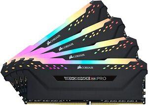 Vengeance RGB Pro 128GB (4x32GB) DDR4 3200 C16 Desktop Memory - Black