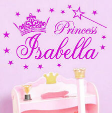 Personalised Name Magic Wand Princess Girls Room Wall Stickers Vinyl Decal Decor