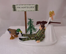 Wedding  Duck Fowl  Bird Cake Topper Camo Hunter Hunting The Hunt Over Sign