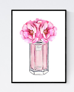 Perfume Bottle Print - Bedroom Wall Art, Fashion Print, Glam Decor