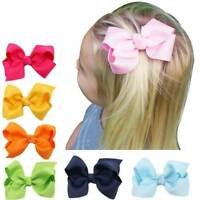 20PCs Baby Big Hair Bow Boutique Girls Alligator Clip Grosgrain Ribbon Headbands