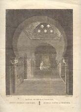 España. Andalucía. Granada. «Baños árabes en Granada» Alexandre Laborde (1810-11