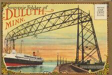 MINNESOTA Duluth Souvenir fold-out folder postcard circa 1920s