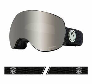 Dragon 2021 X2 Split Black w/ Silver Ion LumaLens + Bonus lens Snow Goggles
