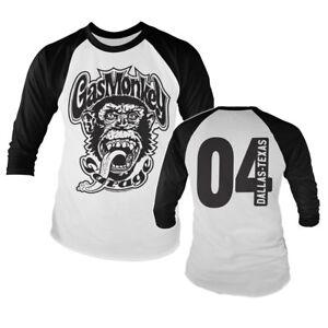 Official Licensed Gas Monkey Garage GMG 04 - Baseball Long Sleeve T-Shirt S-XXL