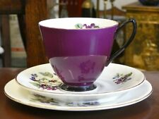 Beautiful Royal Albert Bone China South Pacific Violets Trio Cup Saucer Plate