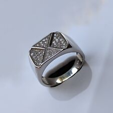 Diamond Wedding Ring 925 Sterling Silver Beautiful Unique Design White Lab Grown