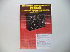 advertising Pubblicità 1978 RADIO KING EURONOVA