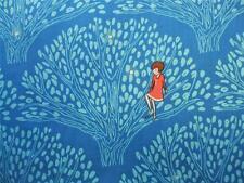 "Wee Wander Tree Lights Twilight Sarah Jane Michael Miller Fabric 34"" REMNANT"