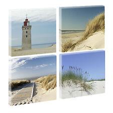 Wandbilder Keilrahmenbilder Meer Nordsee3 - Leinwand - vierteilig -je 40cm*40cm-