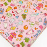 Cotton Print Fabric by FQ Baby Childrens Kids Dress Cartoon Retro Quilt VK7 Pink