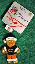 Chicago Bears Gingerbread Man Christmas Tree Ornament NEW