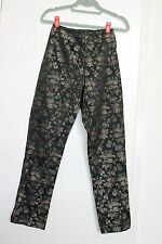 BETSEY JOHNSON Womens Floral Print High-Waisted Straight-Leg Pants Trousers S