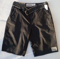 Mens Men's AEROPOSTALE Aero Belted Military Plain-Front Shorts NWT #7189