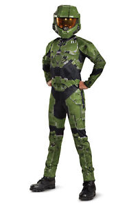 Licenced Kids Halo Master Chief Infinite Fancy Dress Costume Boys Gaming Cosplay