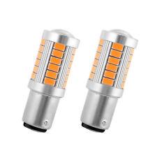 2PCS Amber 1157 BA15S P21W 33-SMD 5730 LED Car Vehicle Reverse Tail Light Bulb