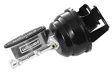 "55-57 Chevy Belair Wilwood Master Cylinder Black 8"" Power Brake Booster 150 210"