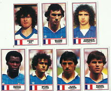 FRANCE ROTHMANS Football International Stars 1984 CIGARETTE CARDS x 7