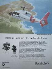 8/1980 PUB CHANDLER EVANS FUEL CONTROL KEITH FERRIS HH-65A US COAST GUARD AD
