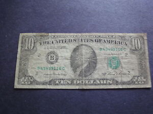 USA  1981 A  $10  Blank Reverse Error Free Shipping