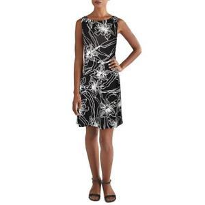 Tommy Bahama Womens Vista Blooms B/W Floral Print Mini Sheath Dress M BHFO 8163