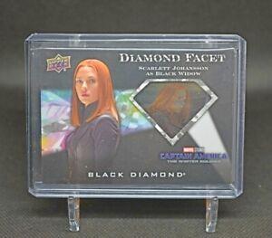 2021 Upper Deck Marvel Black Diamond Diamond Facet S Johansson Black Widow Cel