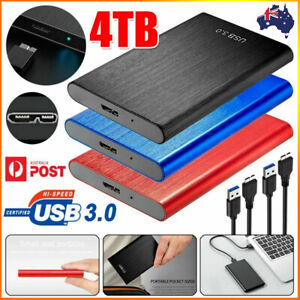 4TB USB 3.0 Mobile Hard Drive Disk External HDD Solid State Laptop Portable AU