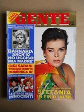 GENTE n°16 1985 Speciale Stefania di Monaco Sandra Milo Lory Del Santo  [D35]