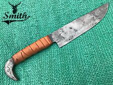 Smith Hand Forged Viking Medieval Full Tang Carbon Steel Knife, Raven Head Knife