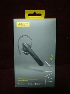 Jabra Talk 45 Bluetooth Headset Noise Cancelling Voice Control black