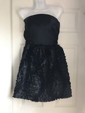 New Nell Couture Black Strapless Short Formal Dress Sz 2 Homecoming Prom Party